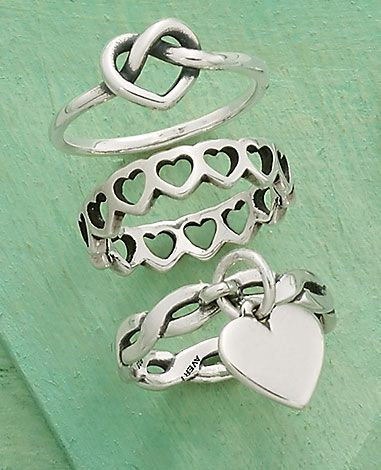 Stack a few heart rings to show your love for a Boho Style #JamesAvery #BohoInspired
