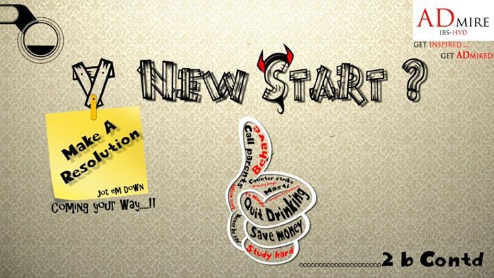 Are you up for the 'new start' ??