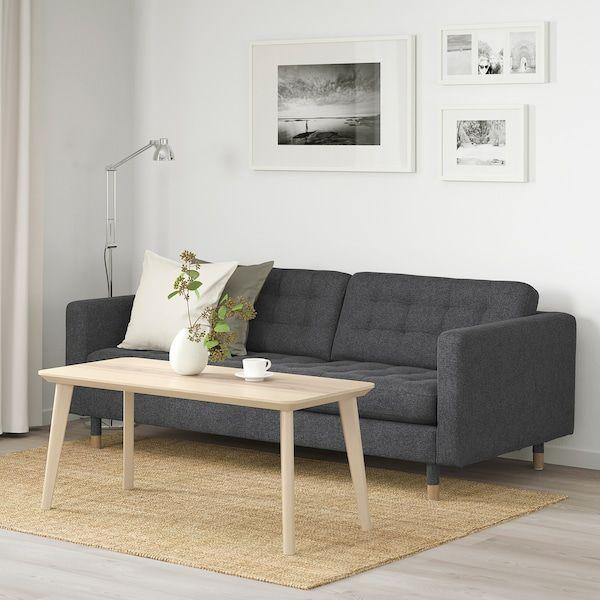 Landskrona 3 Sitssoffa Gunnared Morkgra Bredd 204 Cm Ikea In 2020 Schwarze Wohnzimmer 3er Sofa Billige Couch