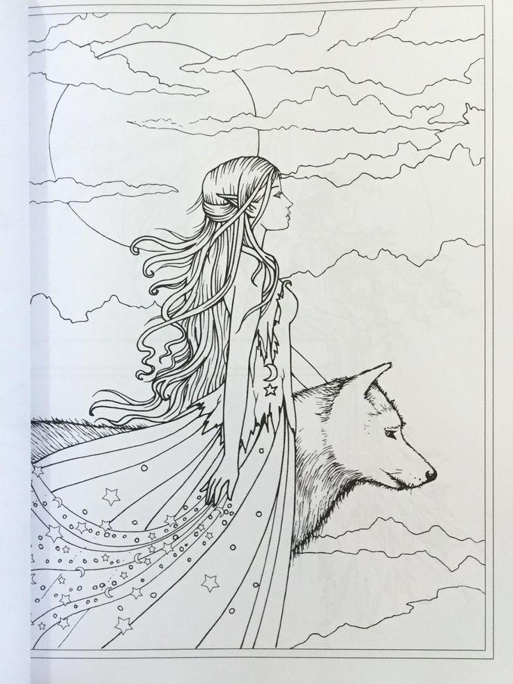 79 best Elves coloring pages images on Pinterest   Elves ...