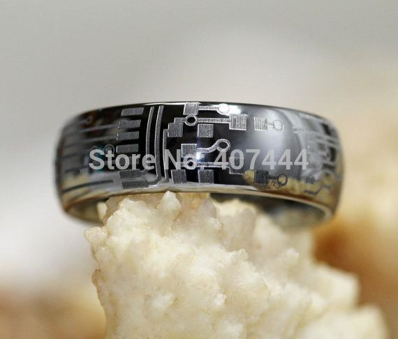 bague tungstene design circuit board badass httpsgoogl circuit boardtungsten carbide ringswedding - Badass Wedding Rings