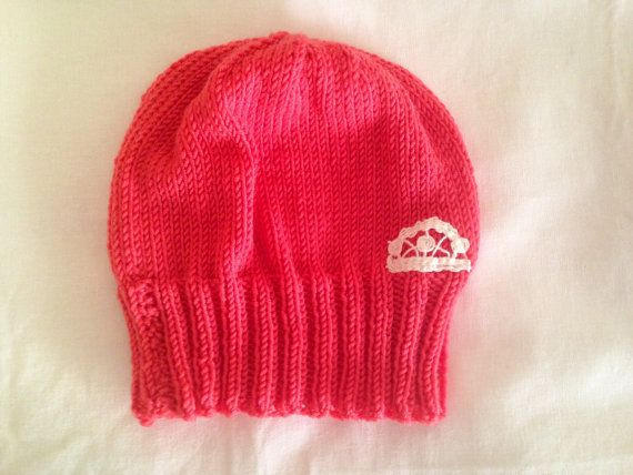 Coral beanie teen to adult size by yorkpatty on Etsy e4fb06085290