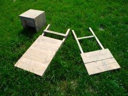 Steigerhouten stoel   stoel daan   steigerhouten klapstoeltje   de Steigeraar