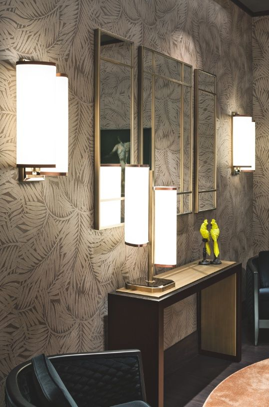 "The Khan console by Oasis is perfect to ""fill"" an empty wall. It can be completed with a mirror (Cocteau on this image)."