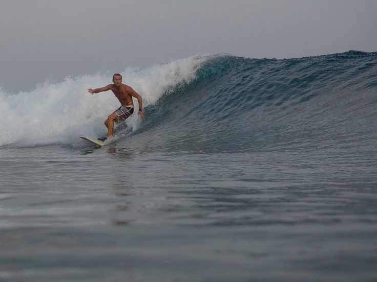 Surfing with Ocean Dimensions, Maldives. Another break where you can paddle out to or for convenience we drop you off and pick you up, is just opposite jetty C.