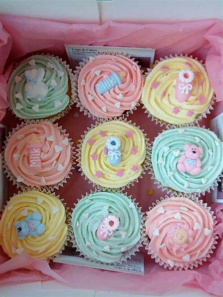 Cute cupcakes for non gender specific shower!