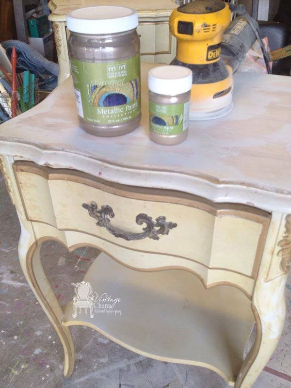 Metallic Painted French Provincial Nightstands. Furniture RepairFurniture  MakeoverHome ...