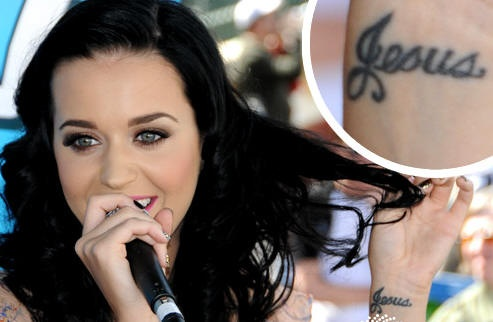 Katy Perry's tattoo