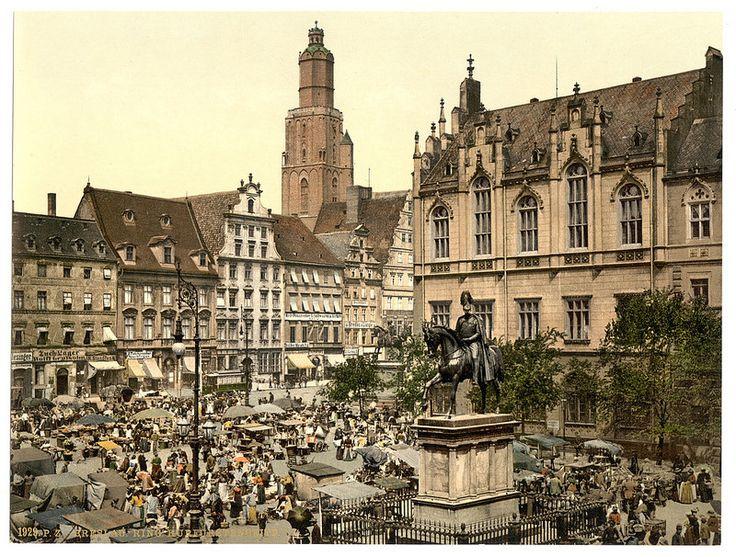 Market place, Breslau, Silesia, Germany (i.e., Wrocław, Poland)-LCCN2002720691 | by Fæ