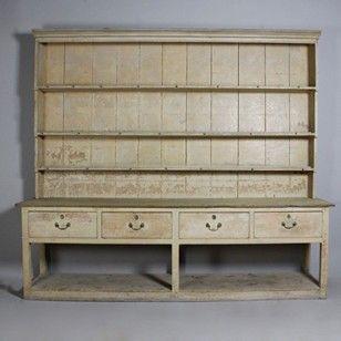 George III Original Painted Pine Potboard Dresser - Decorative Collective