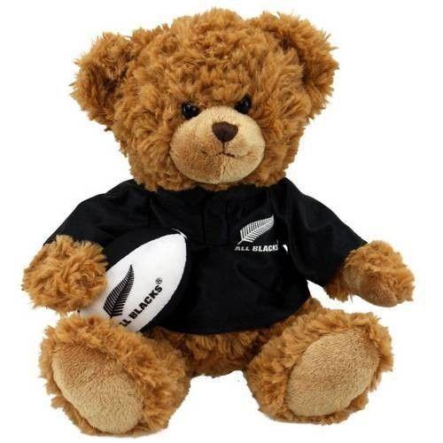 All Black Teddy Bear with Real Haka Sound