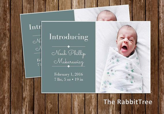 Birth Announcement Photo Baby Announcement Photo by TheRabbitTree