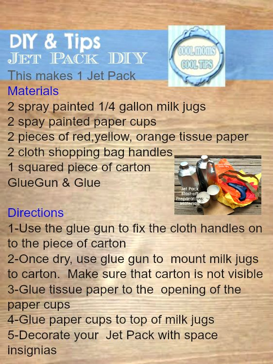 jet pack costume instructions