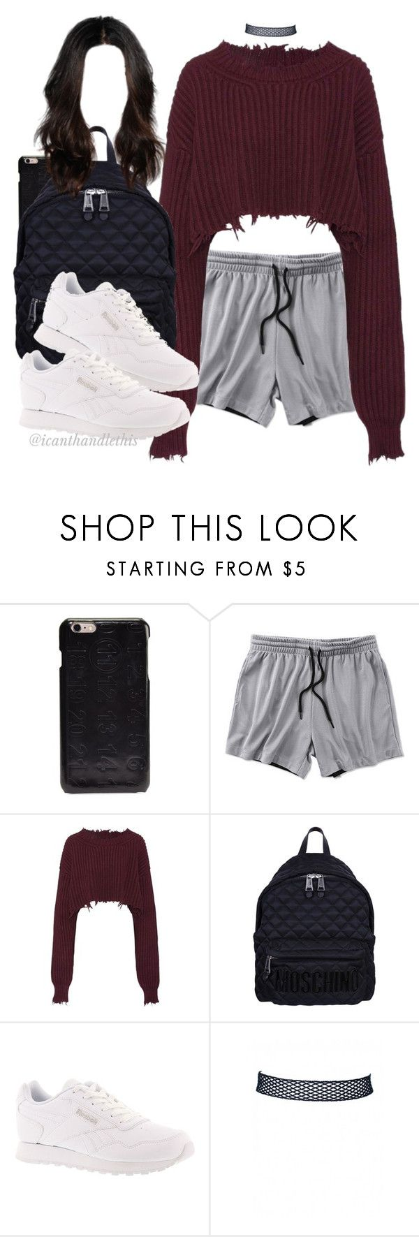 """Era - Ameno (LBLVNC Remix)"" by icanthandlethis ❤ liked on Polyvore featuring Maison Margiela, Unravel, Moschino and Reebok"