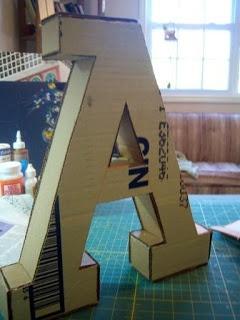 cardboard Monogram DIY