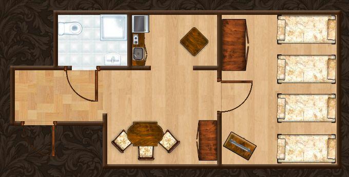 Rzut Apartamentu Miodowego XI http://apartamenty-florian.pl