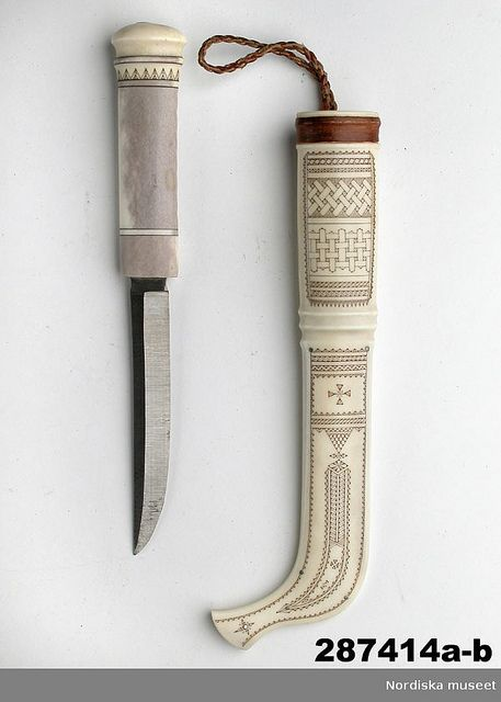 K is for Knife (via Nordiska museet on Flickr - Sami knife from 1973. Id: NM.0287414A) #MuseumABC
