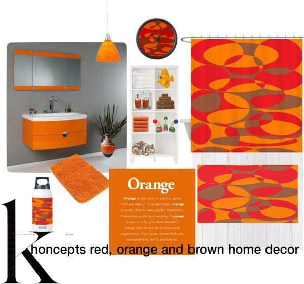 1000 images about home decor orange red and brown on for Orange and brown bathroom ideas