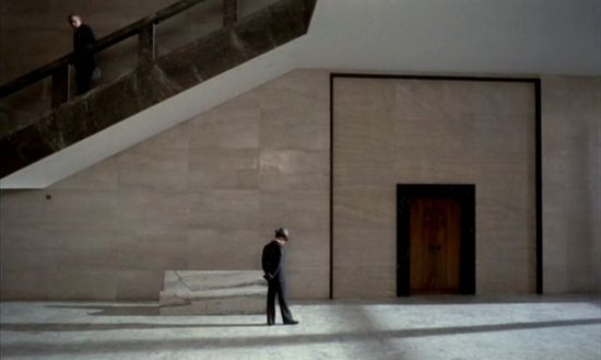 The Conformist, cinematography by Vittorio Storaro: All about the angles & light. Beautiful, beautiful film with a strong visual language.