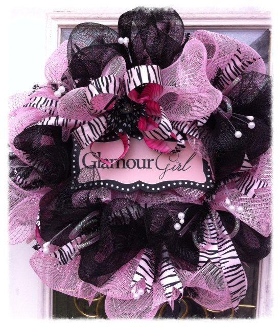 Deco Mesh Wreath Baby's Room Mesh Wreath by TrendyWreathBoutique