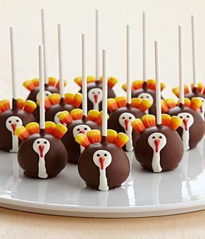 12 Handmade Thanksgiving Turkey Cake Pops