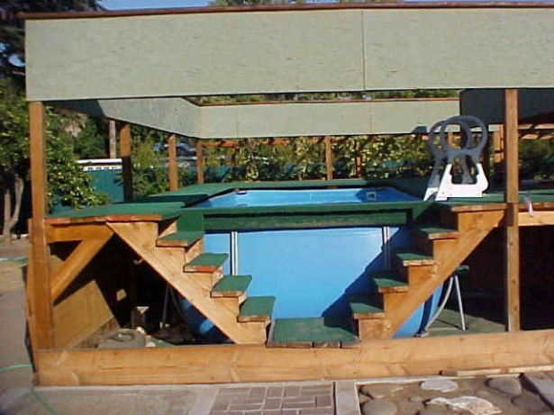 above ground pool deck with high inspiration ideas amazing wooden material idea wooden style double stairs above ground pool decks for grea