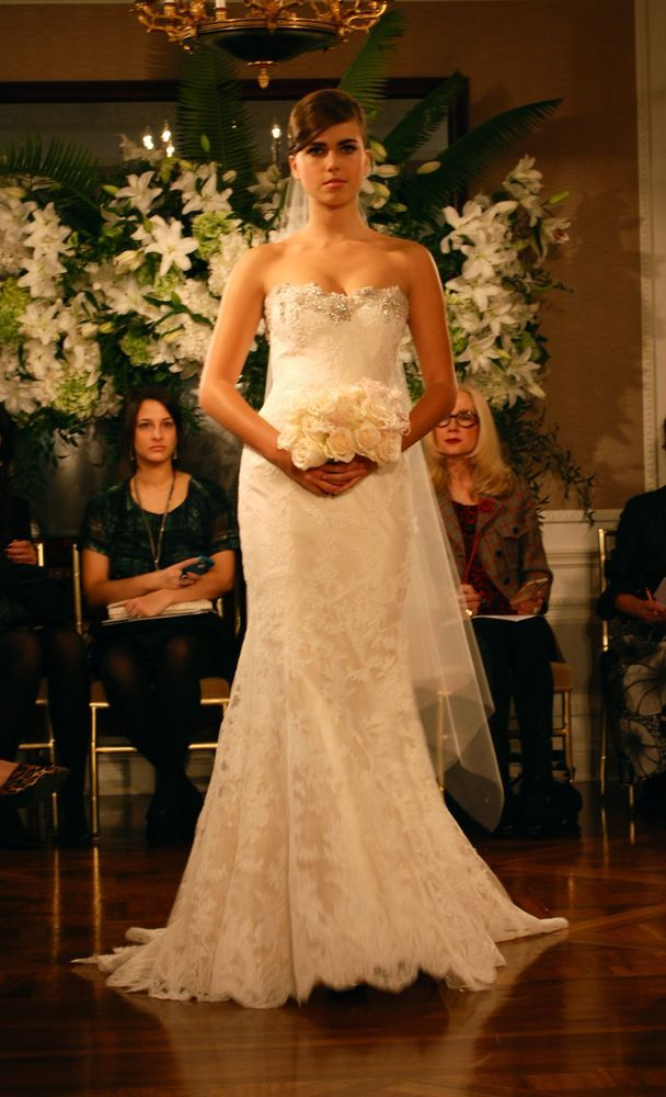 Lace Overlays, A lacey Romona Keveza gown, Fall 2013.