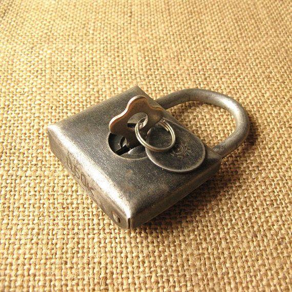 Vintage Lock Padlock With Key Working Padlock Antique Lock