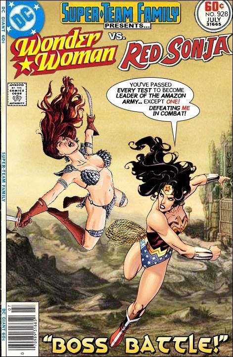 image Wonder woman vs super girl