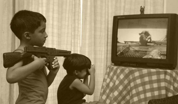 "the effects of violence in television on children Young people are especially in jeopardy of the negative effects of television violence because ""many younger children  while children are watching television,."