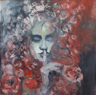 "Saatchi Art Artist Laura Beatrice Gerlini; Painting, ""The silence. Il silenzio"" #art"