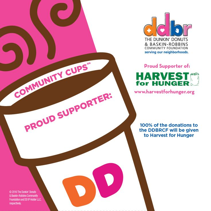 In-store fundraising program. Donuts Community Cups Promotion | Akron-Canton Regional Foodbank