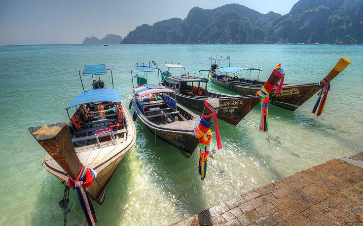 Barcos de pesca, Ko Phi Phi (Tailandia)