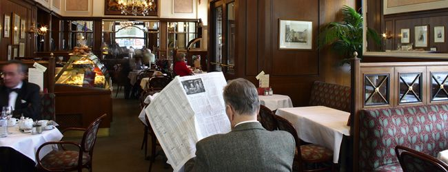 Oldest Coffeehouse in Vienna.  Too bad it's not a larger picture.