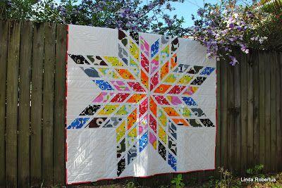 Starimekko - Lone Star quilt made with Marimekko fabrics