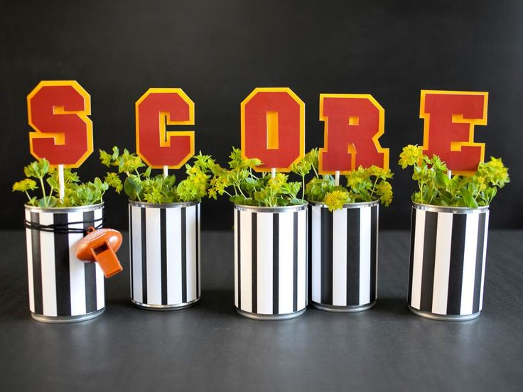 Football Inspired DIY Centerpieces Part 37
