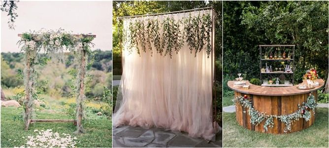outdoor wedding arch and decorations  ideas