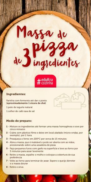 Nada como uma deliciosa, e fácil, receita de massa de pizza, não é? Aprenda na eduK diferentes recheios e arrase na cozinha!