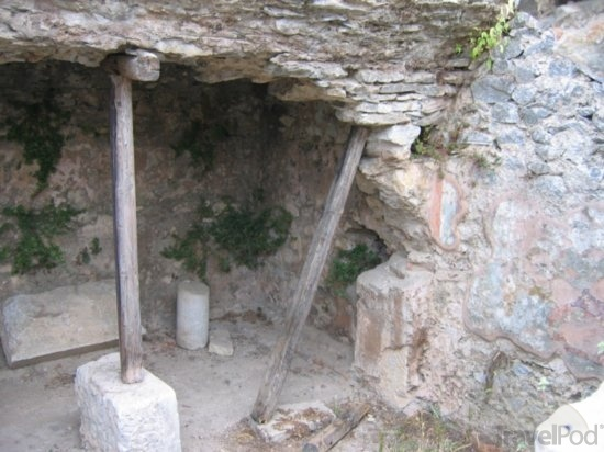 St. Paul's prison cell where he and Silas were captured then freed by an earthquake.  Acts 16:25-37