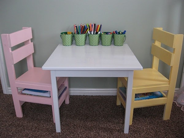 22 best DIY kid table chairs images on Pinterest Kid table