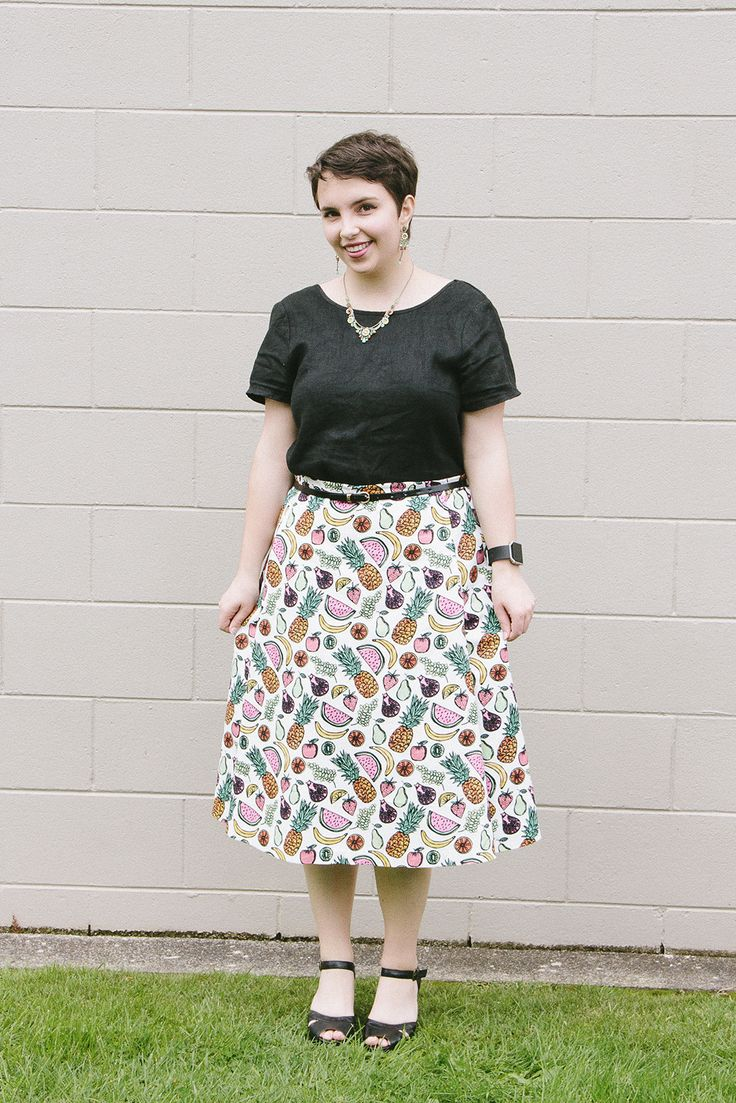Top from Glassons, skirt made by me from a Burda pattern, belt from The Warehouse, shoes from Merchant 1948, and jewellery by Ayala Bar.