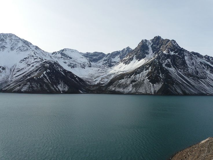 El Yeso is a reservoir located in the Andes, in the Santiago Metropolitan Region, Chile. It has a capacity of 250,000,000 m³ and is one of the major sources of drinking water for Santiago.  Photo Source :César Luco