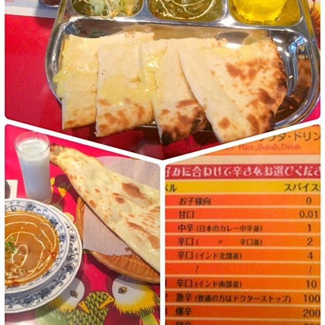 料理が辛いだけでなくコクやスパイシー感があり美味しかったです。 チーズナンのチーズの量がハンパなく質感が焼き餅並みでボリュームがあります。  ラッシーは各お店で味か変わりますが 小学校の給食に出たヨークを思い出し美味しかったです。(*^o^*)懐かしい味! - 70件のもぐもぐ - 静岡 焼津 インド料理 ガンジー by Miki Sano