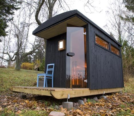 A mobile/portable Sauna #Shed. Who wouldn't love one of these in their garden?