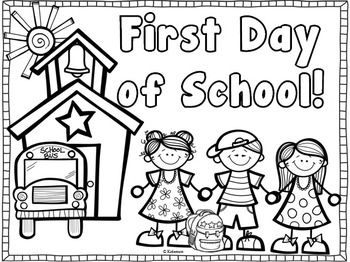 Back to School Coloring Page {Freebie} First day of