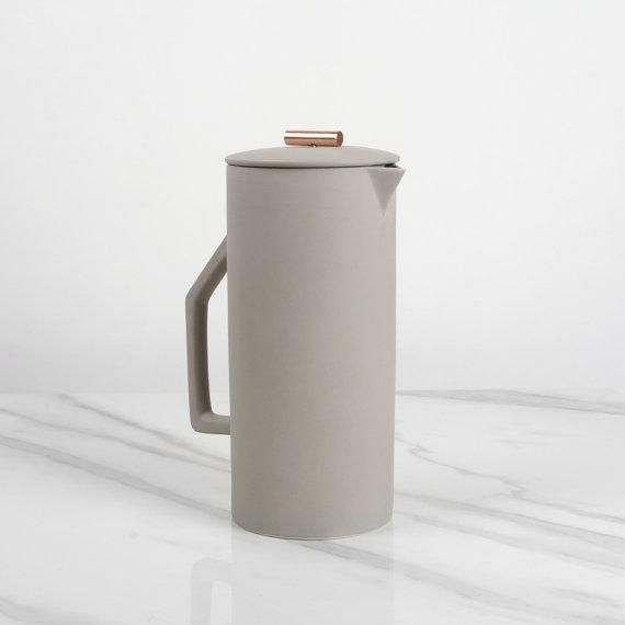 Class up your next brunch party and serve the coffee from a gorgeous handmade ceramic French press. #etsy
