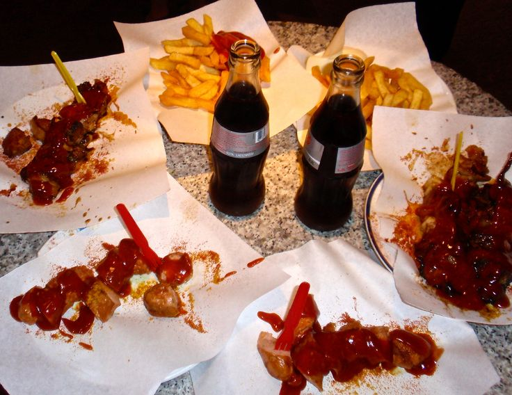 * After the party....kudamm 195 currywurst....*
