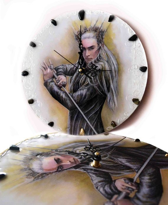 King of Mirkwood  wall clock Thranduil handmade clock by JankaLart