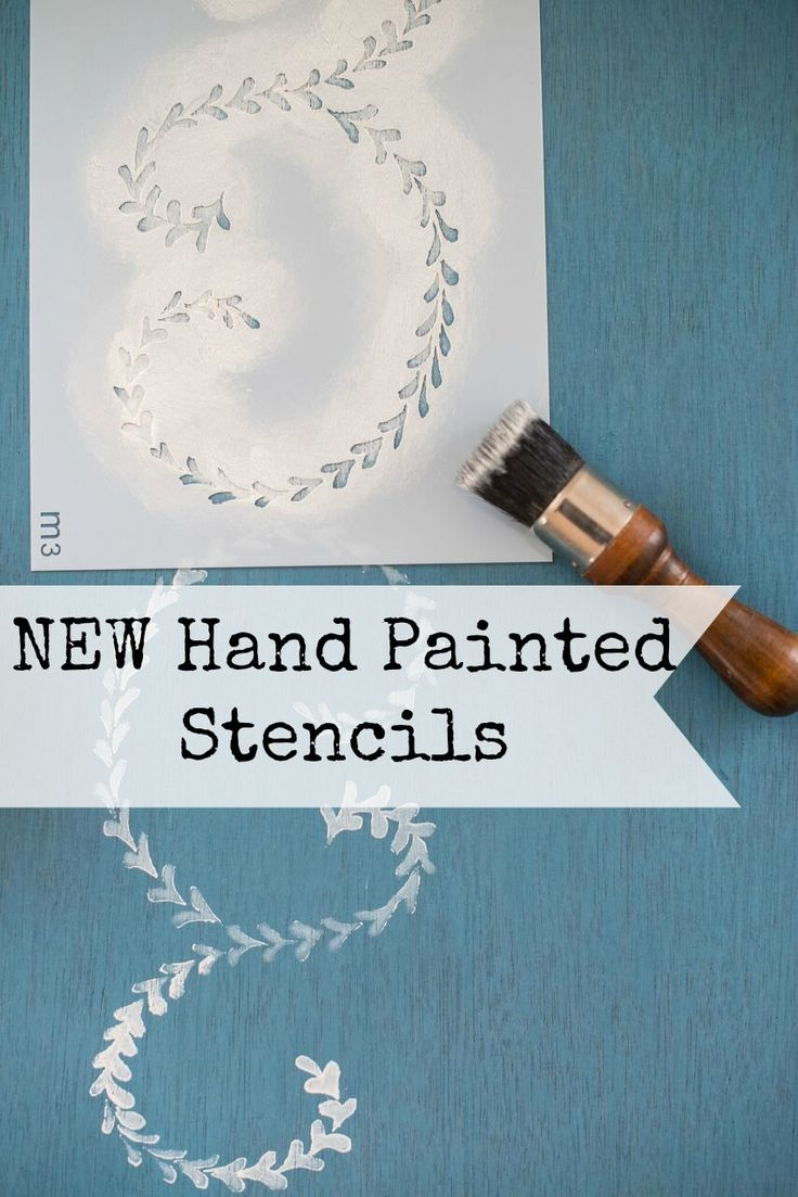 Ever want to hand paint like a pro? You can now using our authentic brush stroke hand painted stencils in our Miss Mustard Seed's Milk Paint line