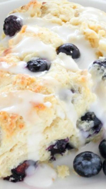 Blueberry Ricotta Scones ~ They smell AMAZING baking up in your oven and emerge perfectly golden on the outside, dreamily tender on the inside, and exploding with berries in every bite!